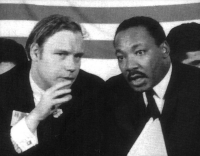 William F. Pepper with Martin Luther King, 1967